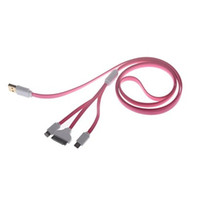 Wholesale 4 in USB Charging Data Cable for Samsung HTC Suit For All Kinds of Mobile Phones Four Colors
