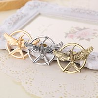 Wholesale 2015 New Arrival Fashion Movie Jewelry The Hunger Game Color Style Bird Brooches Alloy Pins Couple Brooches best Gifts
