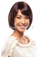 Cheap 2015 Cheap Pixie Cut Hairstyle Synthetic Wigs Short Straight BOBO Hair Straight Wigs for Americans Women Perruque Natural
