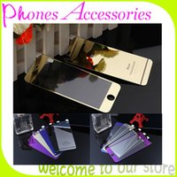Wholesale Screen Protector Colored Tempered Glass Guard Film Color Plating Explosion Proof For iPhone6 iphone s Front and Back Retail Package