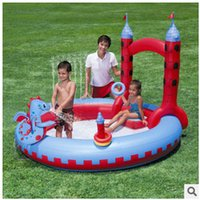 pvc door - Multifunctional Kids Dinosaur Door Inflatable Paddling Swimming Pool Kids High density Tought PVC plastic made Kids Swim Pool LJJC1545