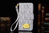 Wholesale MKS case For iphone plus flip cover luxury pu leather stand card slot phone bags for iphone plus inch
