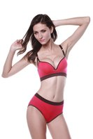 Wholesale New Arrive Yoga Fitness Workout Elastic Women Sports Bra Sets With Pants No Rims Wire Free Dance Padded Underwear Bra Pants Adjusted Straps