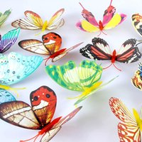 Wholesale Cute cm D Artificial Butterfly Luminous Fridge Magnet Decor For Home Christmas Wedding Decoration Free Drop Shipping