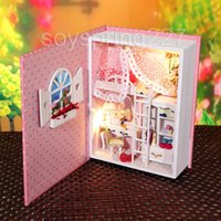 baby diary book - Dollhouse Miniature DIY Kit Light Pink Baby Girls Bedroom Book Journal Diary