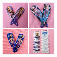 Wholesale High Quality Frozen Hair Clips Girls Hair Accessories Clamps Hairpin Ornament BB Baby pairs with Paper card hair clips