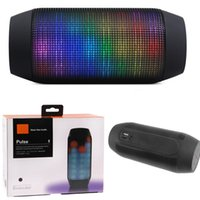big wholesale - New Pulse speaker bluetooth speaker Bluetooth audio wireless big sound box support TF card portable Speakers with LED light FM