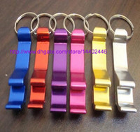Wholesale 200pcs key chain metal aluminum alloy keychain ring beer Can bottle opener Openers Tool Gear Beverage custom personalized pay extra
