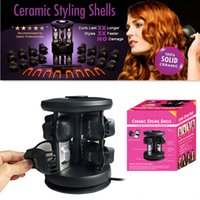 hair salon equipment - hot sell Solid Ceramic Tourmaline Styling Shells Magic Hair Curler Salon Equipment Curl Hair Tools