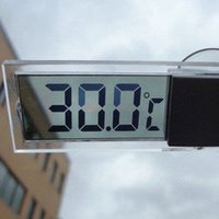 Wholesale Transparent suction cup car LCD digital clock car thermometer electronic thermometer Car thermometer