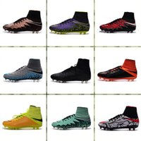 Wholesale 2015 Nike Soccer Cleat Mens Hypervenom II Phantom FG firm ground glass Soccer Boots Sport Shoes Cleats Football Shoes