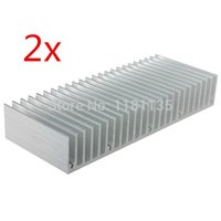 Wholesale 2pcs x60x25mm Aluminum Heatsink Cooling for LED Power Memory Chip for IC Transistor