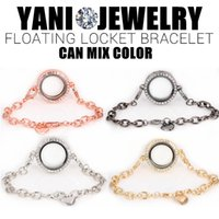 Wholesale Round Locket Bracelet Crystal Bracelets for Women Men With Rhinestones Memory Locket Hot Sale mm Mix Colors