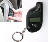 Wholesale Fashion Hot High Quality Mini Keychain Digital LCD Tire car Tyre Air Pressure Gauge For Car Auto Motorcycle Battery