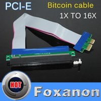 Wholesale Hot Sales cm PCI Express PCI e X TO X Riser Card Extender Ribbon Cable with w Molex Connector