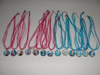 baby girl metal - Fashion Frozen Necklaces Colorful Ribbon Necklace Cartoon Pendants Baby Clothes Girls Dress Accessories