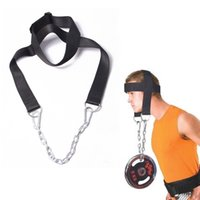 bear muscles - head and neck training bearing headgear muscles strength training equipment with chains and hanging barbell for