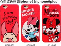 apple bus - For iphone S Plus TH Mickey Minnie Mouse Donald Duck Silicone gel rubber soft Phone Case School Bus Cartoon Hello Kitty Melody Pig cover