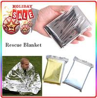 thermal blanket - Silver Emergency Rescue Blanket silvery silver mylar waterproof emergency rescue space foil thermal blankets cm x cm or x cm