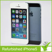Wholesale Unlocked Original Apple iPhone iPhone5 Smart phone IOS WCDMA quot RAM G MP GB GB WIFI G GPS in Sealed box SmartPhone Refurbishe