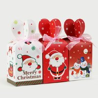 gift wrapping paper - 9 cm DIY Merry Christmas Color Gift Box Cute Paper Festive Gift Box Christmas Favors Gift Wrap Party Supplies WS099