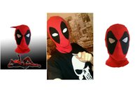 Wholesale 1lot COSPLAY Cartoon Mask Balaclava For Deadpool X Men Halloween Dressing Party Prop costume
