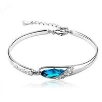 crystal glass award - Korean Fashion Women Crystal glass slipper bracelet multicolor selection Yiwu factory direct grant awarded found