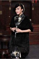Wholesale New Fashion Elegant Women Handmade Knitted Mink Fur Shawls Scarf Lady Party Evening Winter Fur Shawls Scarves ecc2514