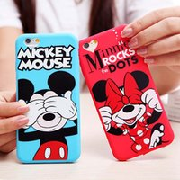apple mouse sale - Hot Sale Cute D Cartoon Minnie Mouse Soft Lovely Phone Cases For Apple iphone6 S Back Cover For iphone Case Capa