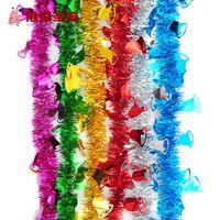 christmas items - 200cm ribbon Christmas tree top decoration bells Xmas tree decorations craft supplies for home decoration cristmas ribbons items