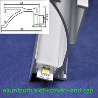 Wholesale mm frost cover led aluminum slot m length for led rigid bar light smd5630