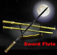 martial arts weapons - Sword flute weapon flute sword Martial arts Katana Kung fu flauta Tai chi exercise sword professional dizi Xiao Katana