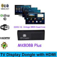 Wholesale MK808B Plus Android HDMI TV Stick TV Dongle Amlogic M805 Quad Core GB GB Mini PC HD1080P H HEVC Bluetooth XBMC Miracast