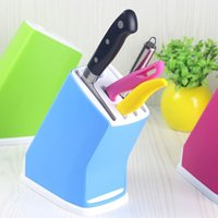 Wholesale New Creative Detachable Cleaning Plastic Kitchen Knife Organizer Multi Functional Storage Knife Rack Knife holder