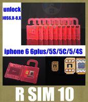 Wholesale for iphone iphone r sim card unlock rsim r sim nano sim card support ios x x x for iphone plus s c iphone s OTH031