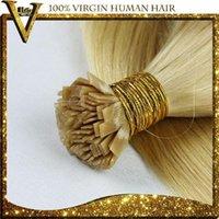 Cheap Pre-Bonded Flat Tip Hair Extensions 1 Gram Strand Remy Human Keratin Hair 50G 100G 150G 200G