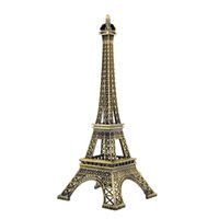 Wholesale Fashion New cm Bronze Tone Metal Eiffel Tower Figurine Home Decors Imitation Model Souvenir Gift Souvenir