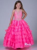 Wholesale Children bohemian princess dress tutu skirt flower girl dress Europe foreign trade performance clothing