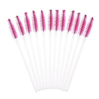 best lash curlers - Best Deal New Professional Women Disposble Eyelash Brush Lash Curler Mascara Wands Makeup Cosmetic Tool Hotpink Pack