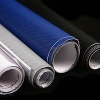 Wholesale New Exterior Accessories waterproof D Carbon Fibre Vinyl Sheet Wrap Sticker Film Paper Decal mmx300mm L014155