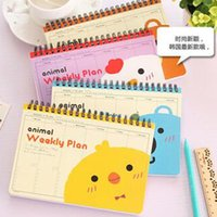 Wholesale 2016 Weekly planner Cute Planners Spiral notebook paper sheet Day planner Diary Note book Notepad Office School Supplies