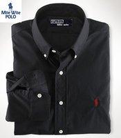 Wholesale 2016 men s boutique autumn pure color lapel leisure long sleeve shirts Men s Button slim fit pure cotton business shirts