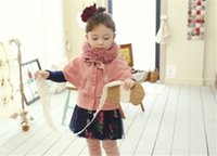 Wholesale Baby Poncho Clothes Girl Winter Clothes Fall Winter Spring New Kids Outerwear Coat Clothes Children Clothing With Hooded Hot Sale