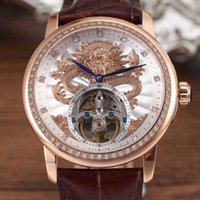 Wholesale DHL EMS shipping High quality automatic watch classic tourbillon mechanical watches men luxury brand waterproof wristwatches men clock gift