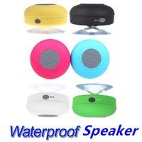 car subwoofer car audio - 2016 Waterproof IPX4 speakers Portable Waterproof Wireless Bluetooth Speaker Shower Car Handsfree Receive Call mini Suction Mic Promotion