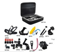 Wholesale 13 in Go pro HD kit accessories Bicycle Handlebar Suction cup J Hook Buckle Head Strap Chest Body Strap Monopole wrist band