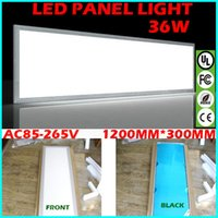 Cheap LED Panel Light Lighting Recessed Downlight Lamps Fixtures AC100 To 240V 36W 3000Lm 1200mm x 300mm Glare-control Edge Lit Cool White