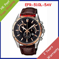 Wholesale EFR L AV EFR L A Men s Watch Sports Chronograph Coffee Leather Black Dial EFR L L Gents Wristwatch Original box