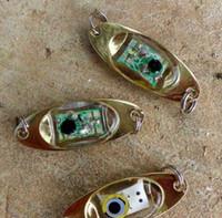 Wholesale 5pcs LED underwater fish luring device under water LED luminescent lamp LED bait LED electron induced electrical fake bait metal luminou