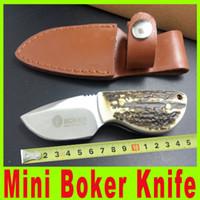 Nuevo Mejor Mini Boker bolsillo de la caza de supervivencia cuchillos plegables traje cuchillo para deportes al aire libre colección afilador de cuchillos A526X